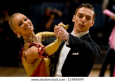 Couple at dancing pose. Waltz. #4