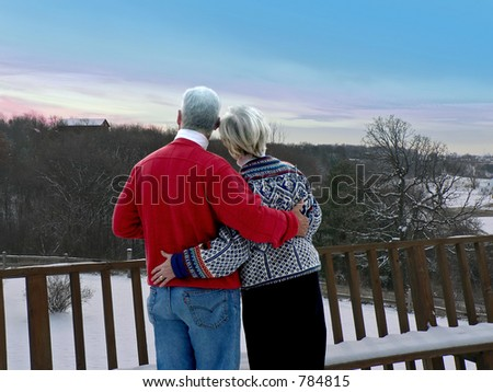 Couple at ski resort