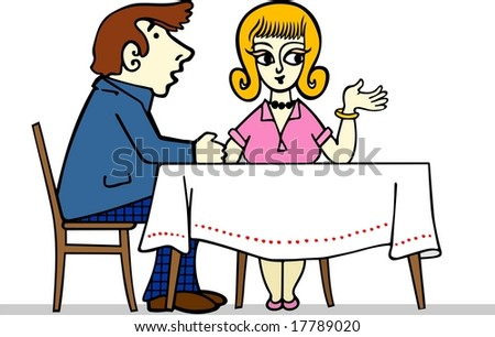 Couple at the restaurant
