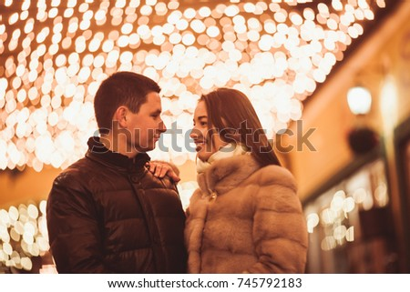 Couple at the street #745792183