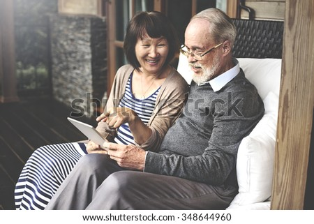 Couple Bonding Relationship Leisure Digital Device Concept