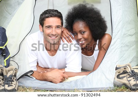 couple camping together