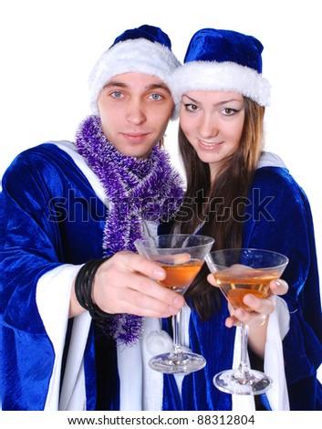 Couple celebrating xmas