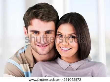 Couple, Cheerful, Heterosexual Couple.