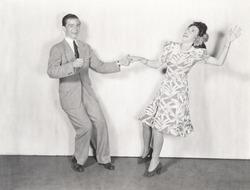 Couple dancing the jitterbug