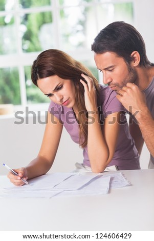 Couple doing their accounting in house