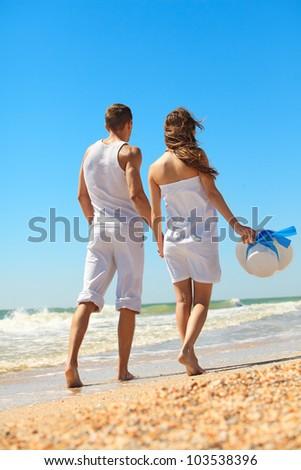 Couple enjoying a summer vacation.