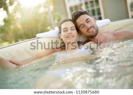 Couple enjoying relaxing time  #1120875680