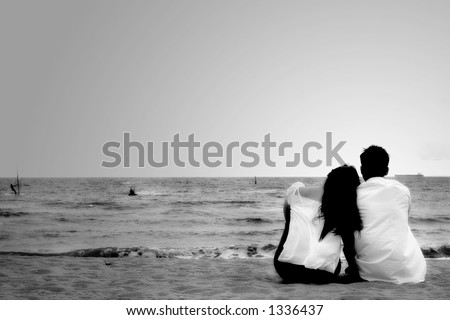 Couple enjoying the beach