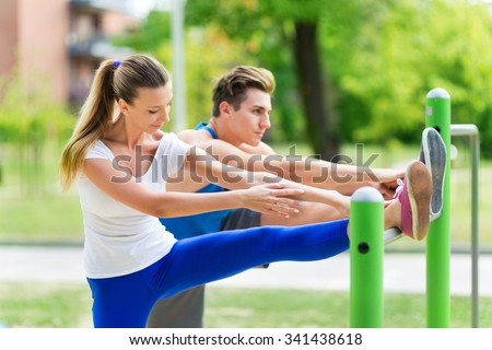 Shutterstock Couple exercising at outdoor gym