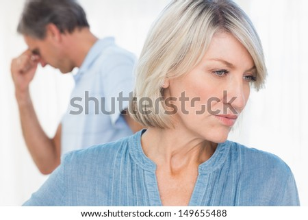 Couple feeling distant after fight at home
