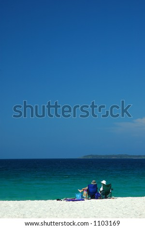 Couple Have a Rest on a Beach