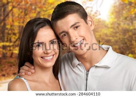 Couple, Heterosexual Couple, Cheerful.