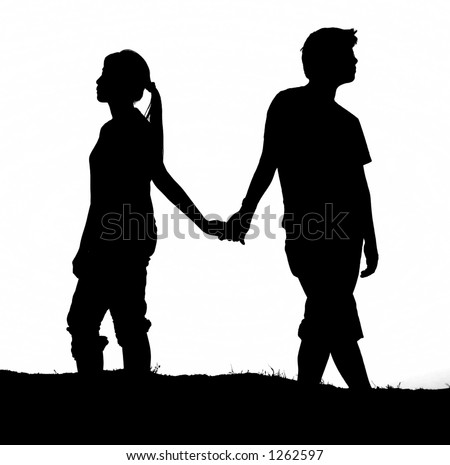 holding hands black and white. holding hands (Black and