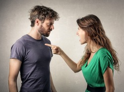 Couple in a fight