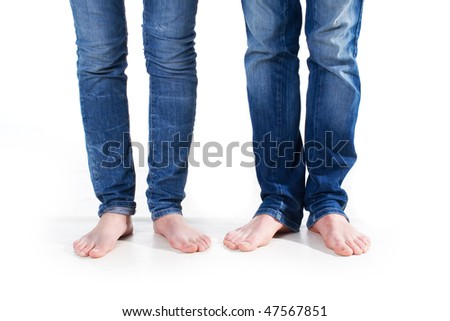 Couple in jeans in love