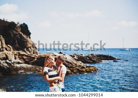 couple in love by the sea, love #1044299014