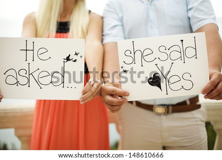 couple in love engagement romantic