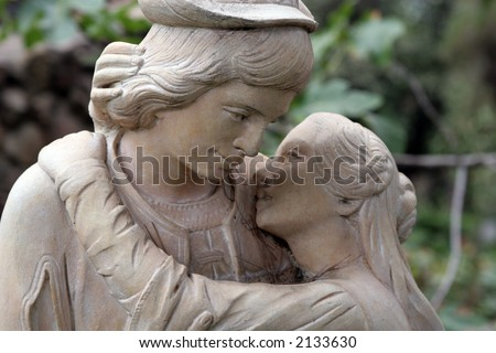 Couple in love statue
