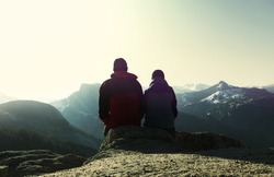 couple in mountains