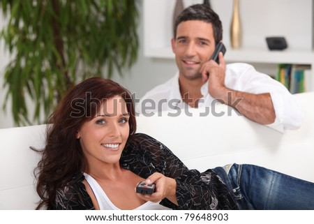 couple in their lounge