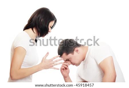 couple isolated on white