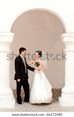 couple just married - stock photo