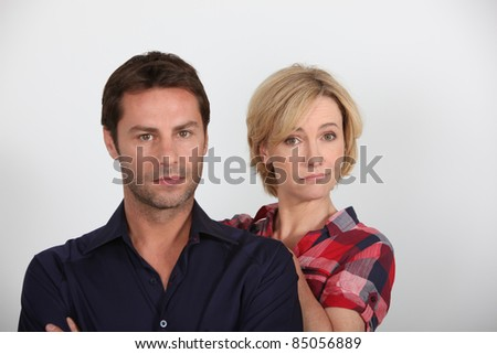 Couple looking disappointed