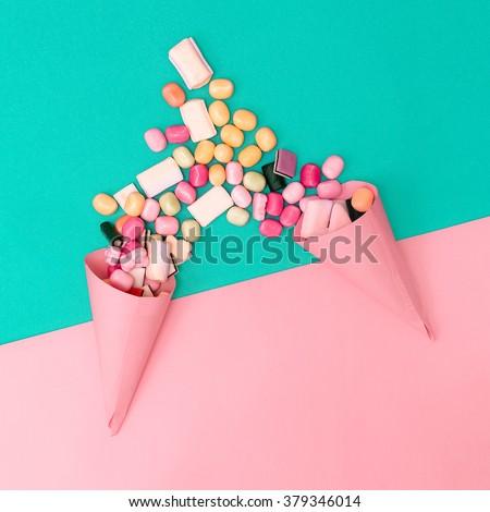 Couple Loves Sweets. Fashion style Minimalism