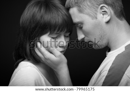 couple. loving touch