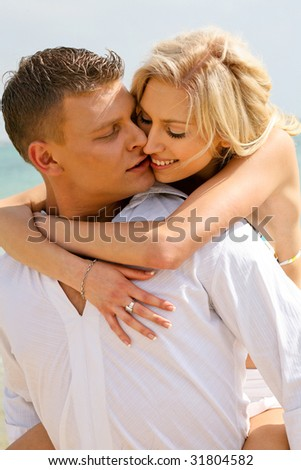 Couple making love in summer