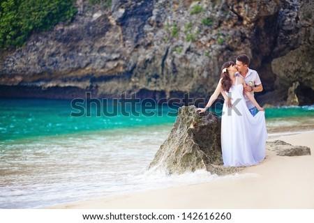 couple near the mountain