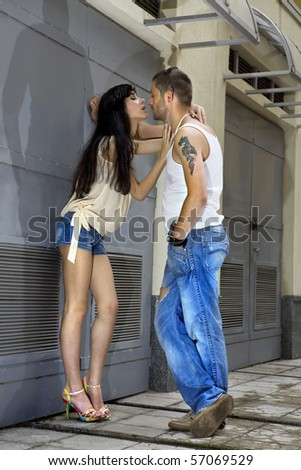 couple of lovers gets into an argument on the street