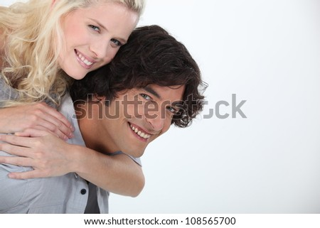 couple of lovers looking happy