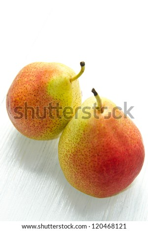 couple of pear on white