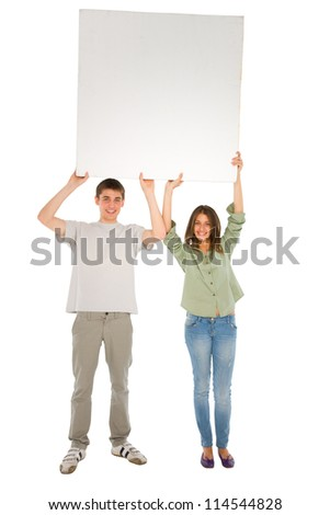 couple of teenagers with white panel