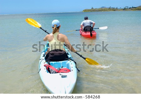 couple on a kayak