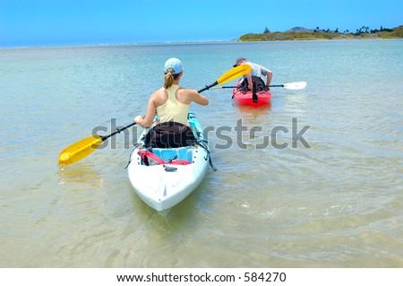 couple on a kayak 2