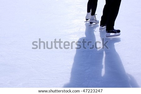 couple on skating rink