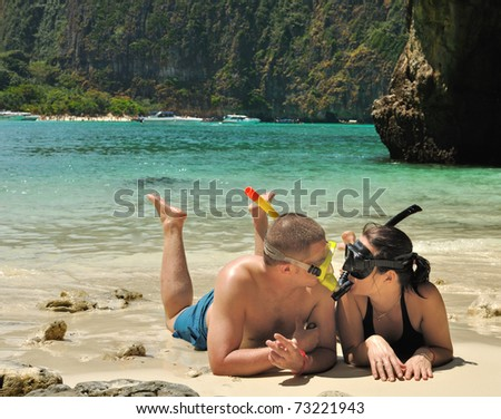 Couple on the Phi Phi islands