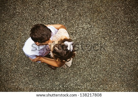 couple on wedding day - stock photo