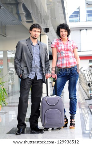 couple passenger at the airport