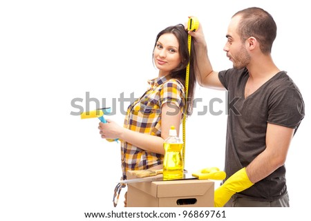 Couple preparing for renovation of their home