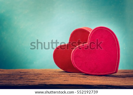 Couple red heart of love #552192739