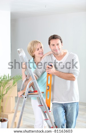Couple redecorating home