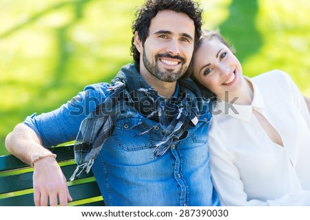 Couple relaxing outdoors #287390030