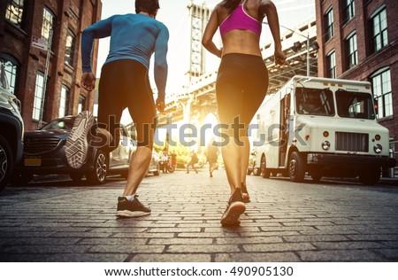 couple running in brooklyn....