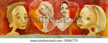 couple's dreams - stock photo