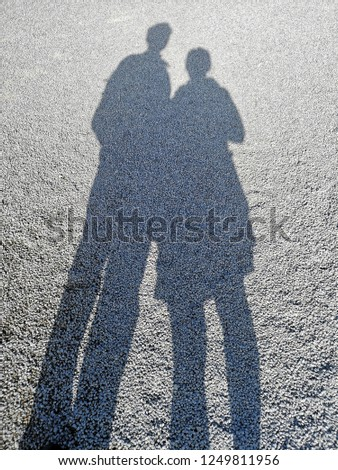 Couple shadow, Secret Lovers, Lover Journeys. #1249811956