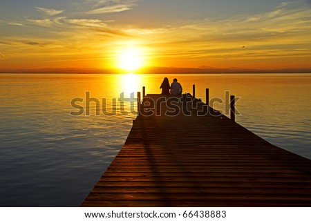 couple sharing the sunset